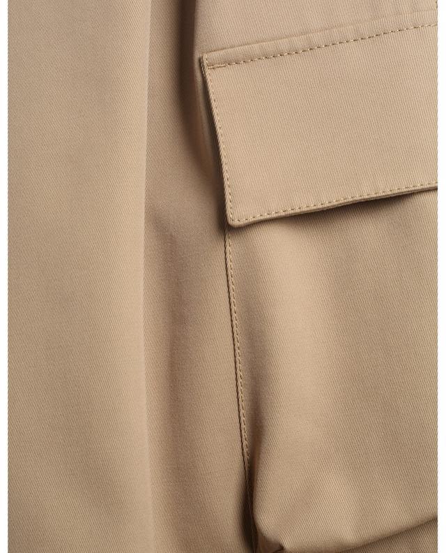 Pantalon carotte taille haute en coton et laine vierge RED VALENTINO