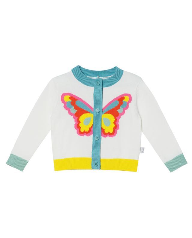 Cardigan bébé en coton Butterfly Intarsia STELLA MCCARTNEY KIDS