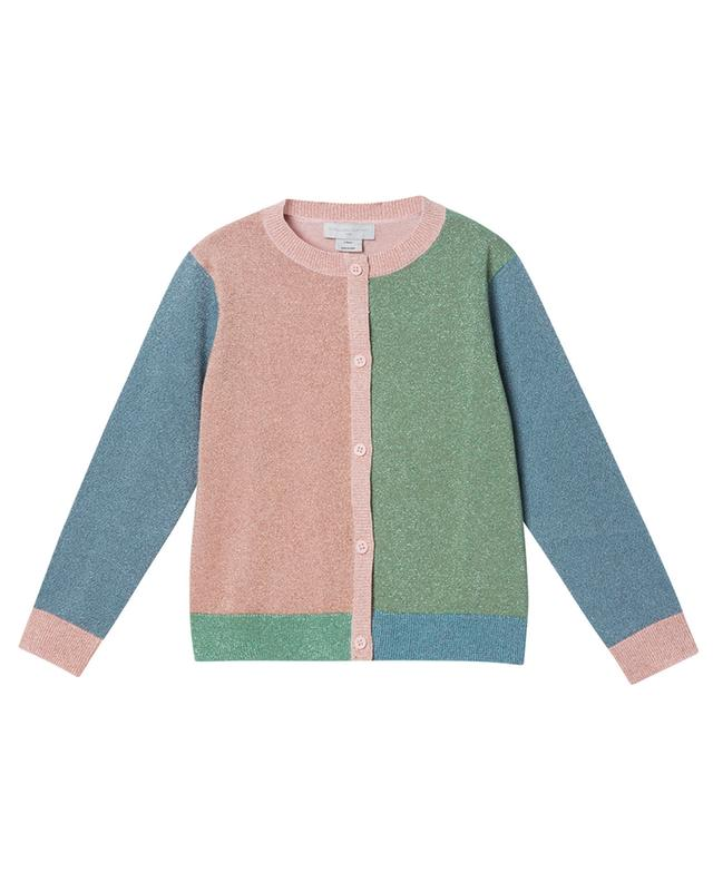Cardigan multicolore en maille de lurex Colorblock STELLA MCCARTNEY KIDS