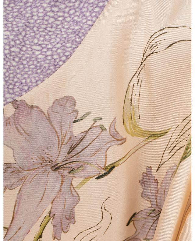 Veste légère en sergé de soie fleuri Gelsomina FORTE FORTE