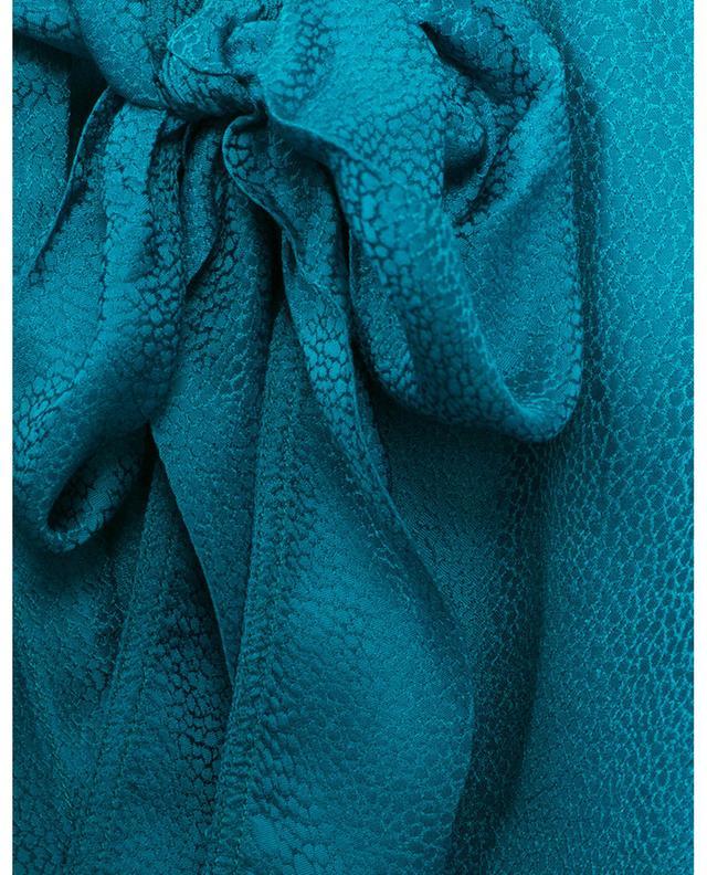 Blouse en satin texturé à lavallière Topazio FORTE FORTE