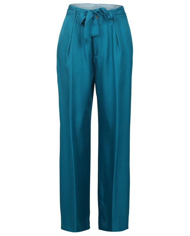 Pantalon large en satin texturé Topazio FORTE FORTE