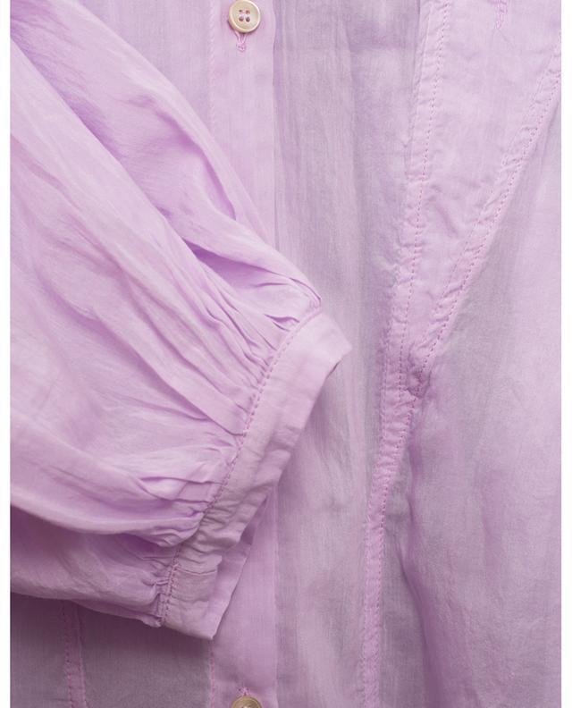 Oversize-Boho-Hemd aus Baumwoll- und Seidenvoile FORTE FORTE