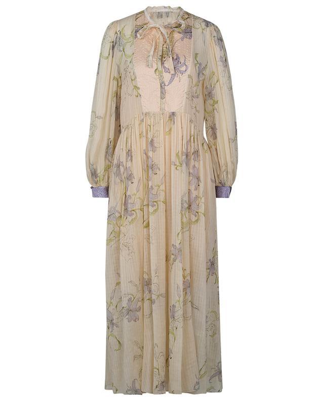 Robe longue en voile fleurie Gelsomino FORTE FORTE