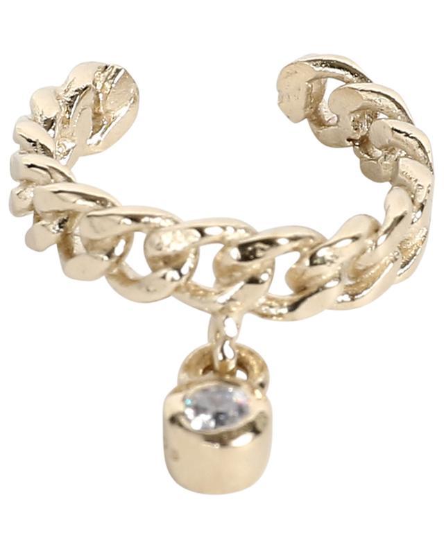 Faux piercing en argent doré avec zircon AVINAS