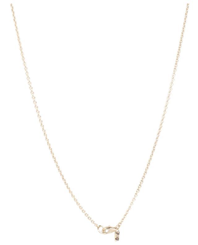 Chaîne dorée avec médaille et zircons AVINAS