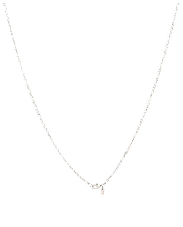 Collier long maille Figaro avec perle AVINAS