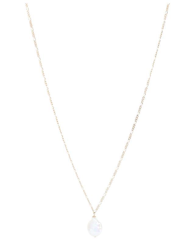 Collier doré long maille Figaro avec perle AVINAS