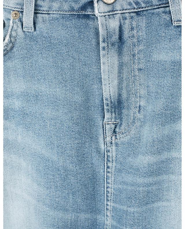 Minijupe en jean A-Line Luxe Vintage Skywalk Distressed 7 FOR ALL MANKIND