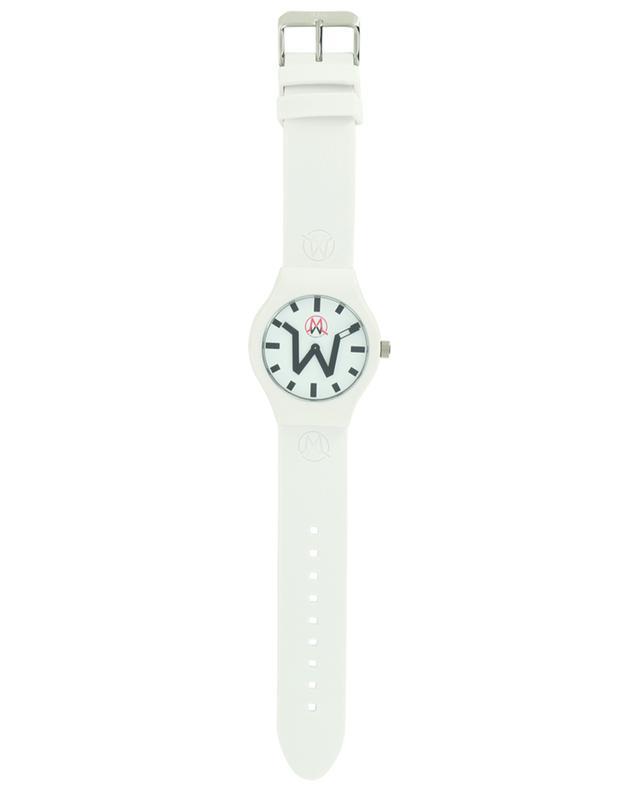 Montre avec bracelet en silicone blanc Zurich MADWATCH