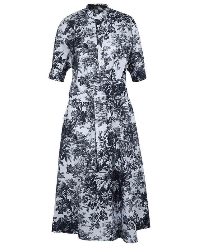 Robe trapèze midi imprimée Toile de Jouy WINDSOR