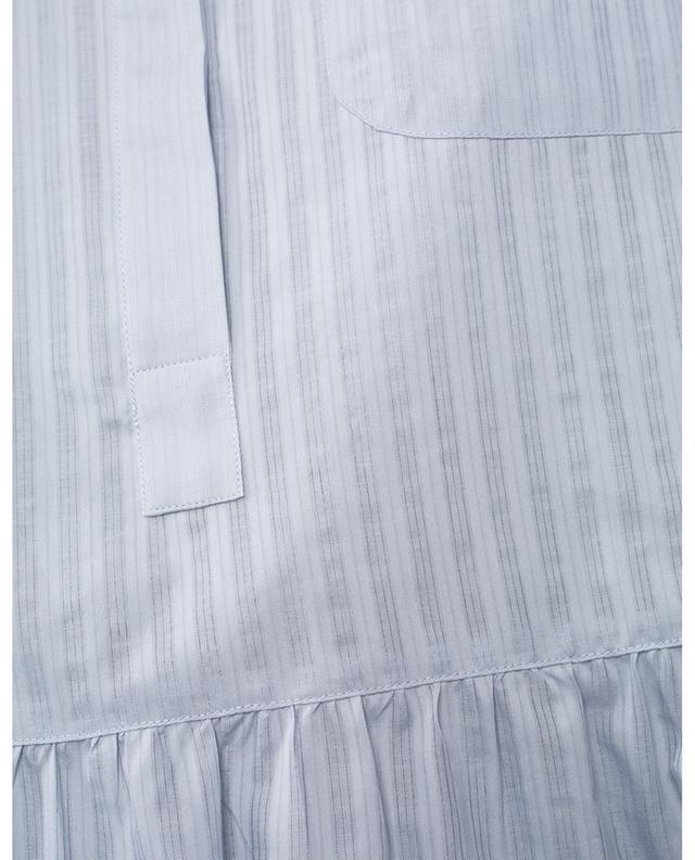 Blouse à manches courtes en coton à basque WINDSOR