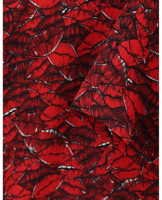 Mini robe en soie imprimée lèvres VALENTINO