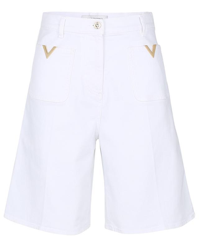 Bermuda en denim blanc VGold VALENTINO