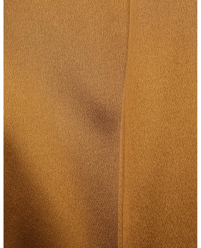 Blouse en satin de soie bronze à lavallière SAINT LAURENT PARIS