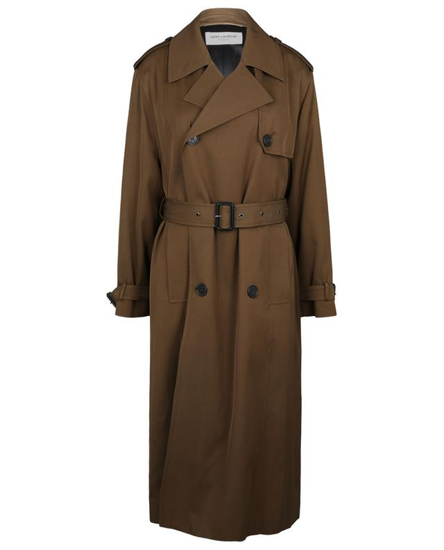 Trench long en sergé SAINT LAURENT PARIS