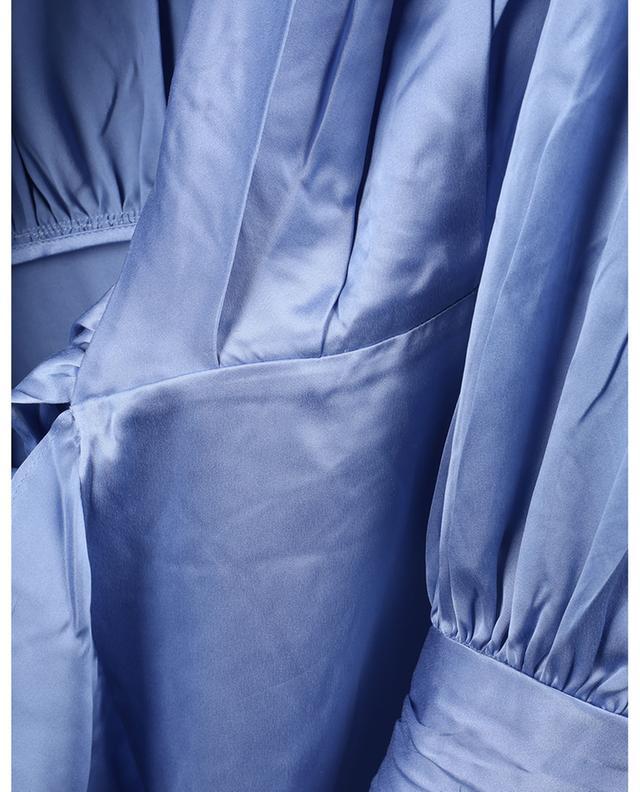 Robe portefeuille midi asymétrique en soie ZIMMERMANN
