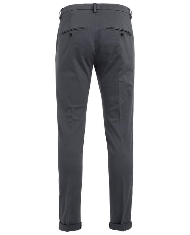 Dondup gaubert cotton blend chino trousers anthracite a19533
