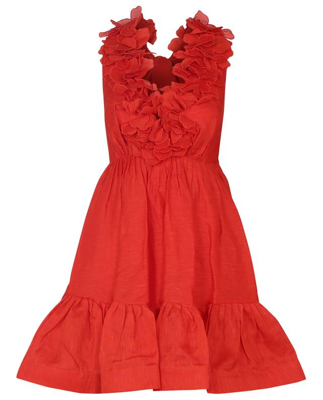 Mini robe dos nu en lin et soie The Lovestruck Garland ZIMMERMANN