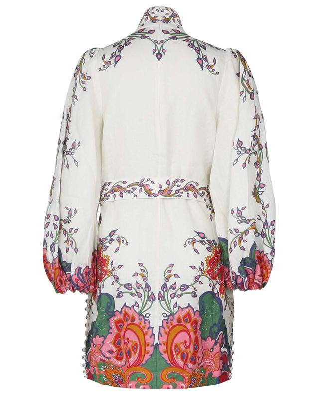 Tunique en lin imprimé paisley The Lovestruck Buttoned ZIMMERMANN