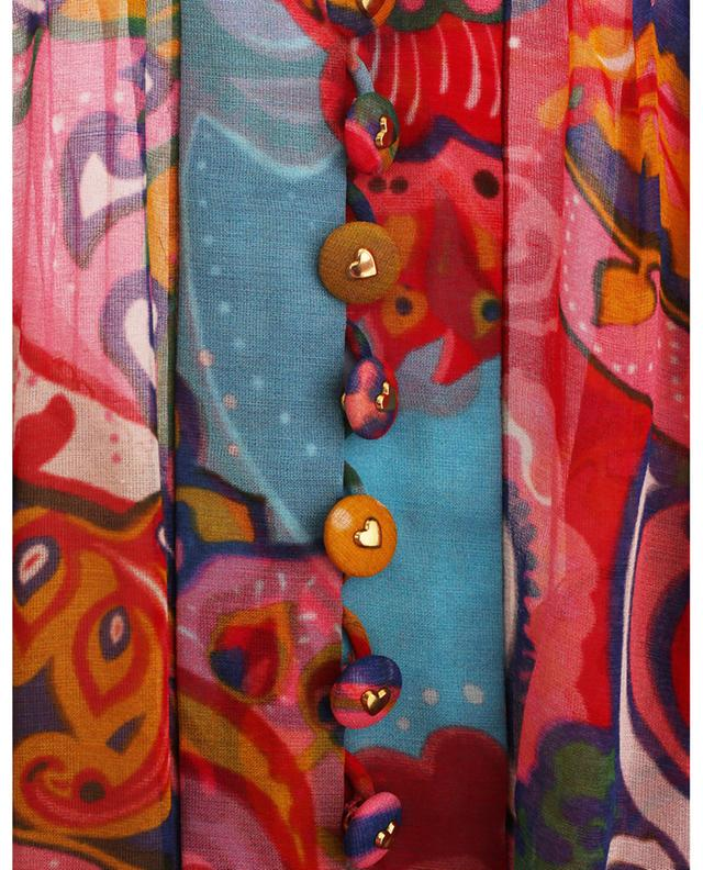 Minirobe en georgette imprimée The Lovestruck ZIMMERMANN