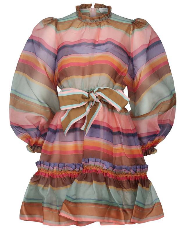 Mini robe en organza rayé The Lovestruck Rainbow ZIMMERMANN