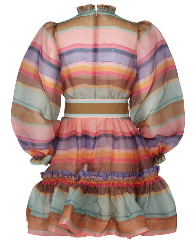 Mini robe en organza rayé The Lovestruck Rainbow ZIMMERMANN