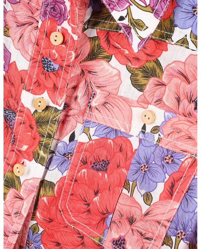 Combinaison en lin fleuri Poppy Belted Safari ZIMMERMANN