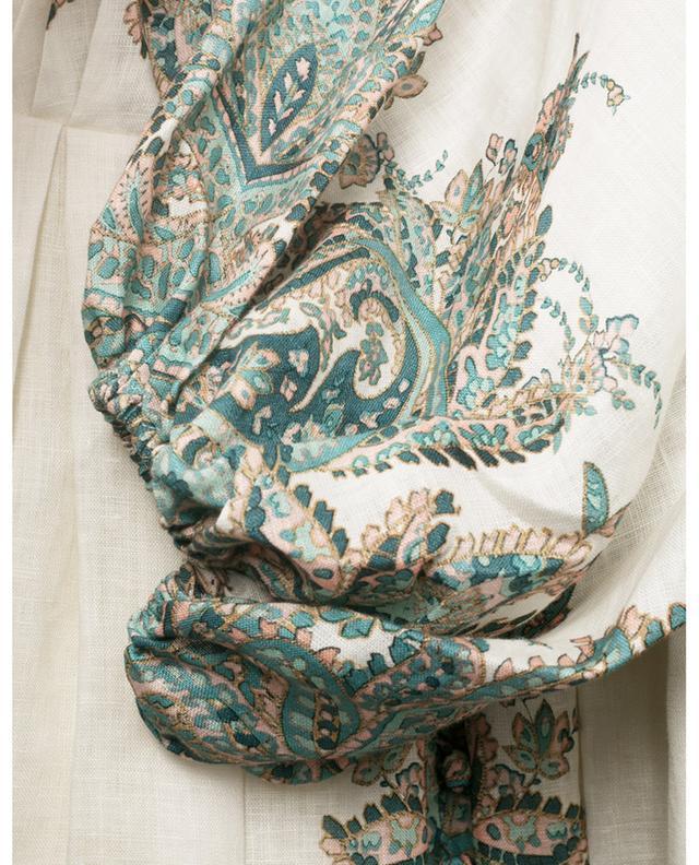 Robe imprimée paisley en lin Brighton ZIMMERMANN