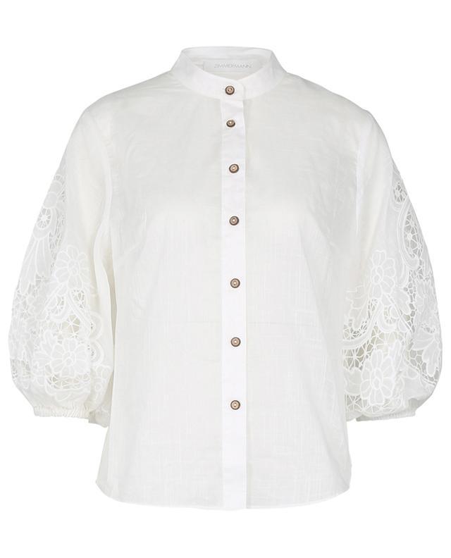 Chemise à broderies anglaises en coton Lulu ZIMMERMANN