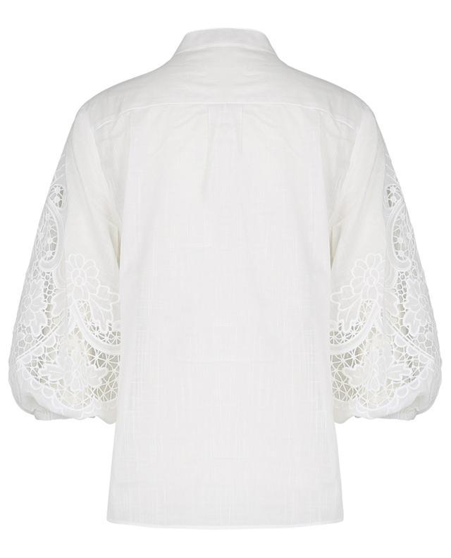 Hemd aus Baumwolle mit Lochstickdetails Lulu ZIMMERMANN