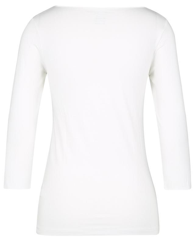"T-shirt col bateau et manches 3/4 Superwashed ""Soft Touch"" MAJESTIC FILATURES"