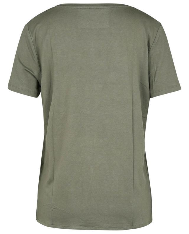 """T-shirt à manches courtes et col en V Superwashed """"Soft Touch"""" MAJESTIC FILATURES"""