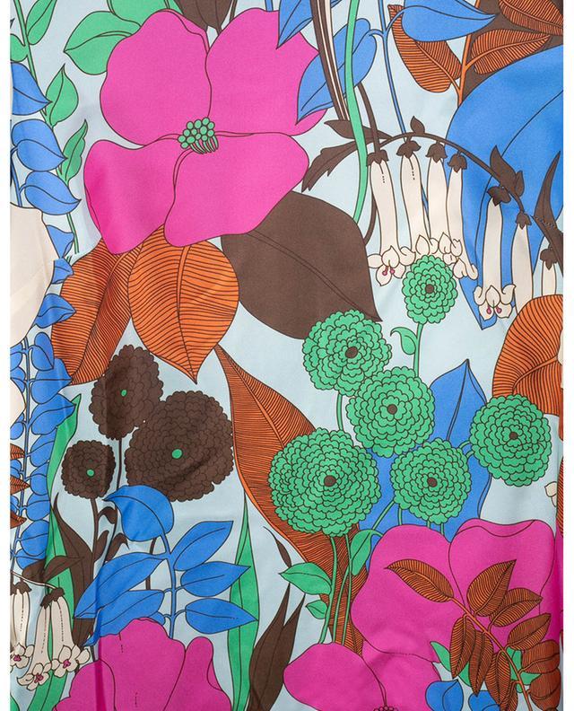 Robe trapèze en soie fleurie Mini Swing Big Flowers LA DOUBLEJ