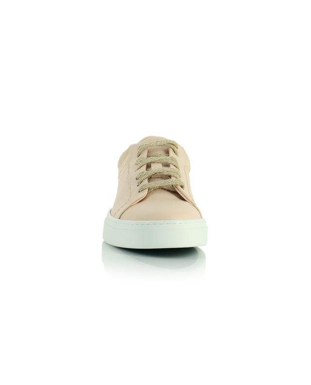 Baskets à lacets en cuir végan rose Neven Low YATAY