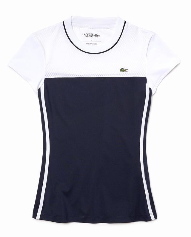 LACOSTE SPORT women's colour block tennis T-shirt LACOSTE