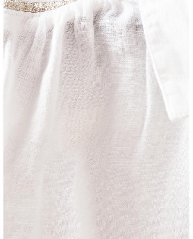 Chemise en lin à manches courtes détail lurex 120% LINO