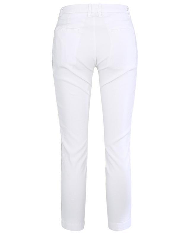 Pantalon slim en lin à bandes latérales lurex 120% LINO