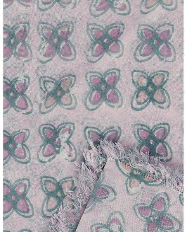 Foulard carré imprimé trèfle Dluke HEMISPHERE