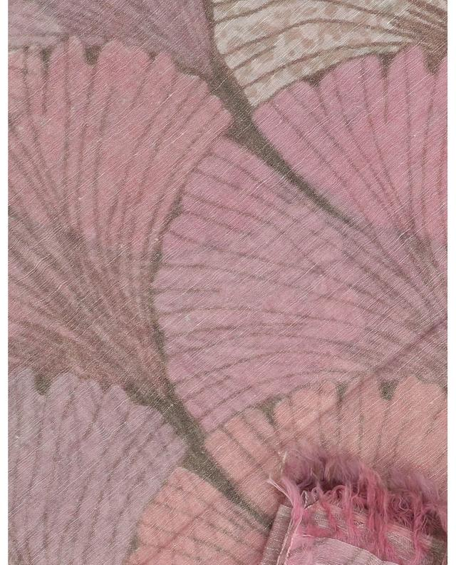 Écharpe fine imprimée feuilles de ginkgo Beaves HEMISPHERE