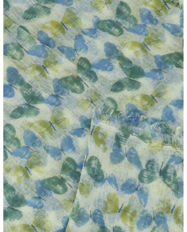 Écharpe fine en laine imprimée papillons Dutterlfies HEMISPHERE
