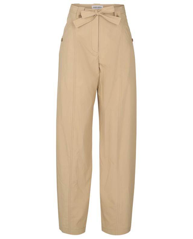 Pantalon fuselé décontracté en popeline KENZO