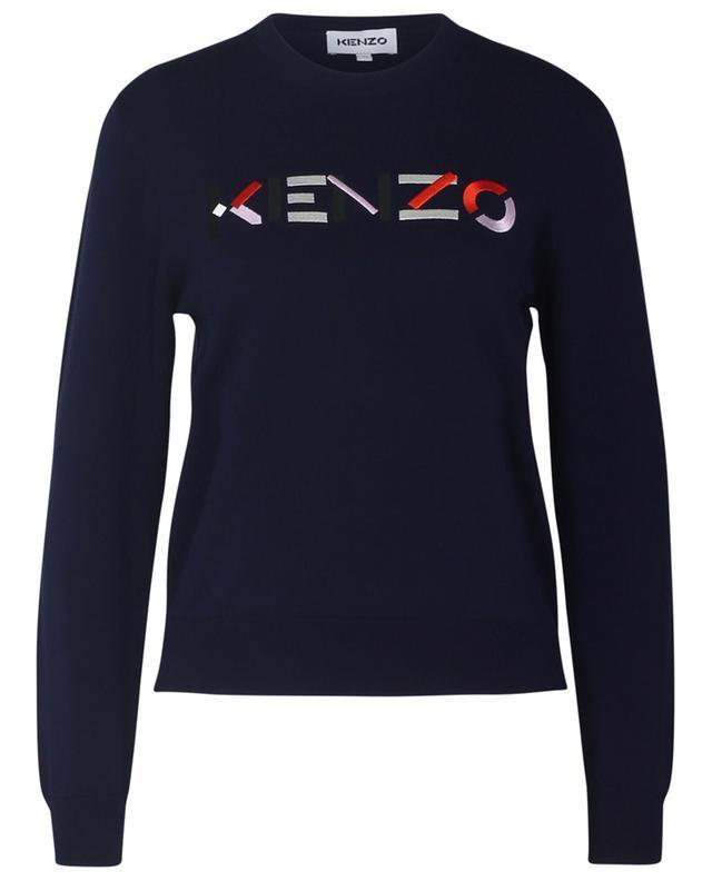 Pull fin en coton organique brodé KENZO logo KENZO