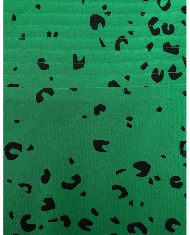 Jupe midi évasée en soie imprimée Cheetah KENZO