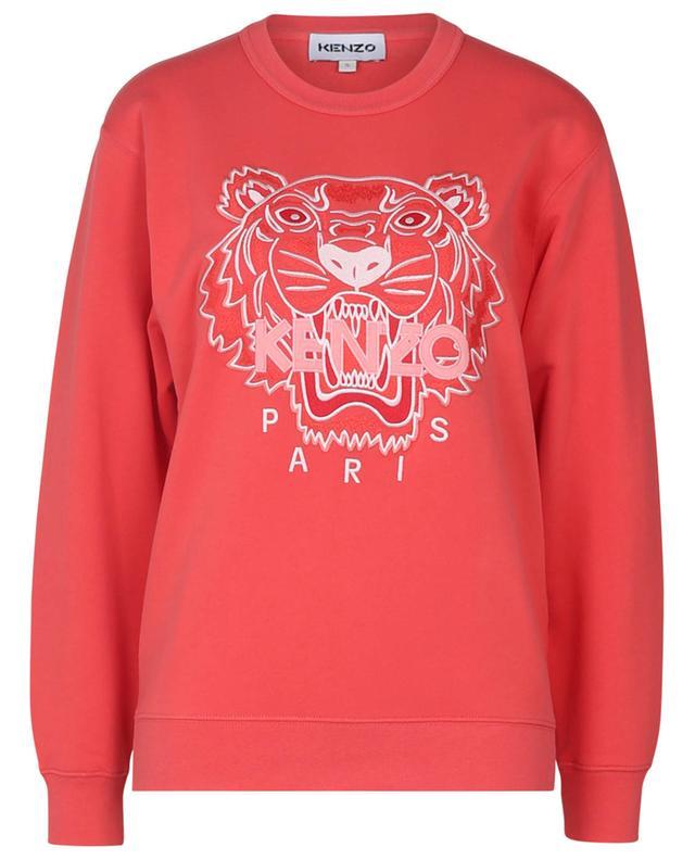 Sweat-shirt à col rond brodé Tiger KENZO