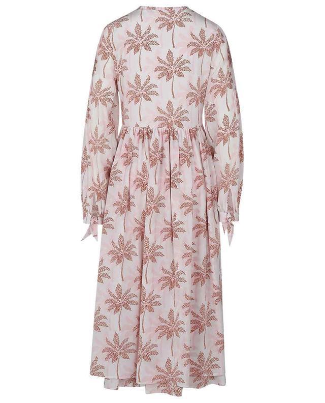 Robe midi empire en soie imprimée Palmtree SLY 010