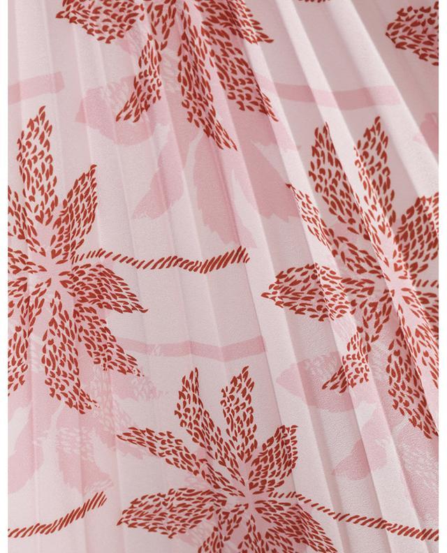 Jupe midi plissée en crêpe imprimée Palmtree SLY 010