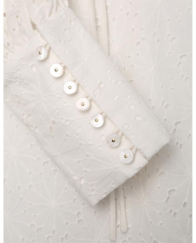 Blouse en coton à broderies anglaises florales SLY 010