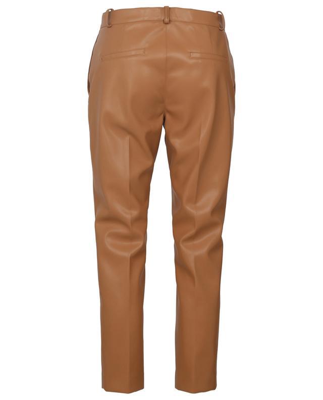 Pantalon droit raccourci en cuir synthétique SLY 010