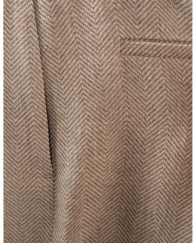 Pantalon large à chevrons en laine et coton SLY 010